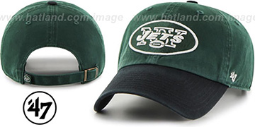 Jets 2T CLEAN-UP STRAPBACK Green-Black Hat by Twins 47 Brand