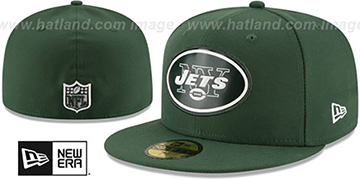 Jets BEVEL Green Fitted Hat by New Era