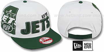 Jets BIGSIDE A-FRAME SNAPBACK White-Green Hat by New Era