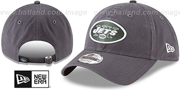 Jets CORE-CLASSIC STRAPBACK Charcoal Hat by New Era