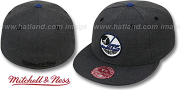 Jets GREY HEDGEHOG Fitted Hat by Mitchell & Ness