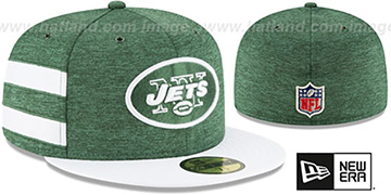 Jets 'HOME ONFIELD STADIUM' Green-White Fitted Hat by New Era