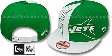 Jets NE-NC THROWBACK DOUBLE COVERAGE SNAPBACK Hat by New Era