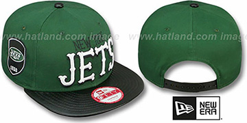 Jets 'NFL ENGLISH-WORD SNAPBACK' Green-Black Hat by New Era