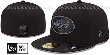 Jets 'NFL FADEOUT-BASIC' Black Fitted Hat by New Era