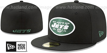 Jets NFL TEAM-BASIC Black Fitted Hat by New Era