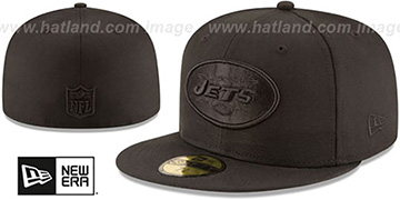 Jets NFL TEAM-BASIC BLACKOUT Fitted Hat by New Era