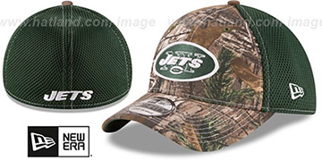 Jets REALTREE NEO MESH-BACK Flex Hat by New Era