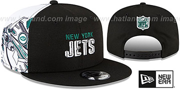 Jets SIDE-CARD SNAPBACK Black Hat by New Era