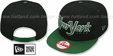 Jets SNAP-IT-BACK SNAPBACK Black-Green Hat by New Era