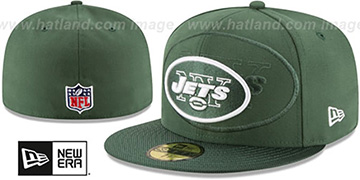 Jets 'STADIUM SHADOW' Green Fitted Hat by New Era