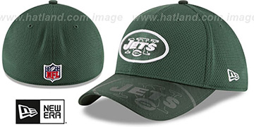 Jets 'STADIUM TRAINING FLEX' Green-Green Hat by New Era