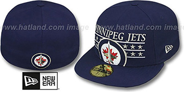 Jets STAR STUDDED Navy Fitted Hat by New Era