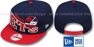 Jets STOKED SNAPBACK Navy-Red Hat by New Era