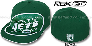 Jets 'SUPERSIZE' Green Fitted Hat by Reebok