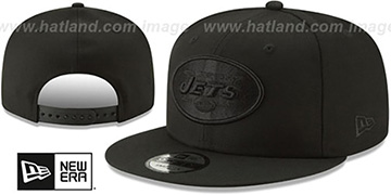 Jets TEAM-BASIC BLACKOUT SNAPBACK Hat by New Era