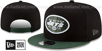 Jets TEAM-BASIC SNAPBACK Black-Green Hat by New Era