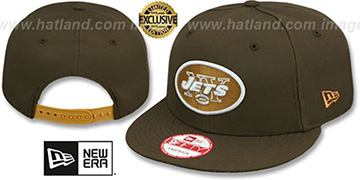 Jets 'TEAM-BASIC SNAPBACK' Brown-Wheat Hat by New Era
