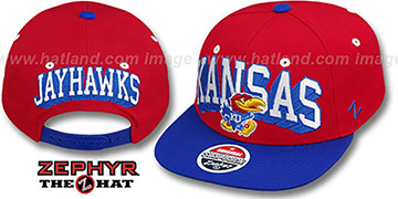 Kansas '2T BLOCKBUSTER SNAPBACK' Red-Royal Hat by Zephyr