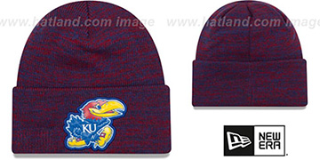 Kansas 'BEVEL' Royal-Red Knit Beanie Hat by New Era