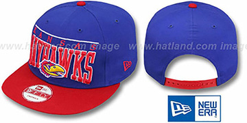 Kansas 'LE-ARCH SNAPBACK' Royal-Red Hat by New Era