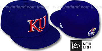 Kansas 'NCAA-BASIC' Royal Fitted Hat by New Era