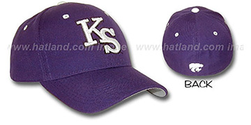 Kansas State 'DH' Fitted Hat by ZEPHYR - purple