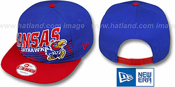 Kansas 'STILL ANGLIN SNAPBACK' Royal-Red Hat by New Era