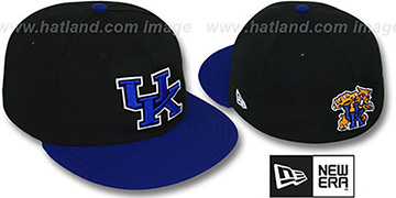 Kentucky 2T NCAA-BASIC Black-Royal Fitted Hat by New Era