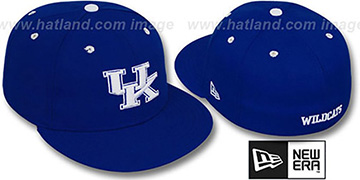 Kentucky 'NCAA-BASIC' Royal Fitted Hat by New Era