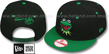 Kermit 'MUPPETS' Black-Green Snapback Hat by New Era