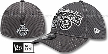 Kings 2012 STANLEY CUP CHAMPS Grey Stretch Fit Hat by New Era