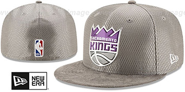 Kings '2017 ONCOURT DRAFT' Grey Fitted Hat by New Era