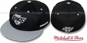 Kings '2T BP-MESH' Black-Grey Fitted Hat by Mitchell & Ness