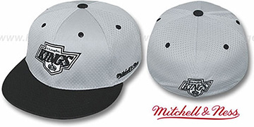 Kings '2T BP-MESH' Grey-Black Fitted Hat by Mitchell & Ness