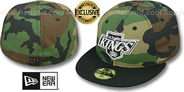 Kings 2T CAMO Army-Black Fitted Hat by New Era