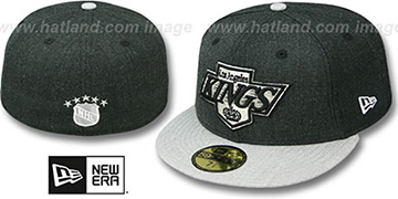 Kings '2T-HEATHER ACTION' Charcoal-Grey Fitted Hat by New Era