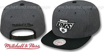 Kings '2T-HEATHER SNAPBACK' Grey-Black Hat by Mitchell & Ness