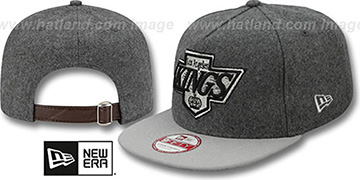 Kings '2T MELTON A-FRAME STRAPBACK' Hat by New Era