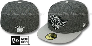 Kings '2T MELTON-BASIC' Grey-Grey Fitted Hat by New Era