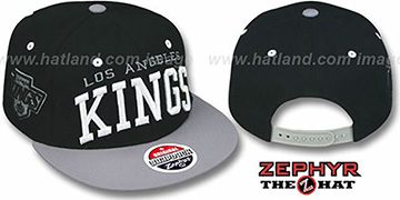 Kings '2T SUPER-ARCH SNAPBACK' Black-Grey Hat by Zephyr