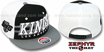 Kings 2T SUPERSONIC SNAPBACK Black-Grey Hat by Zephyr