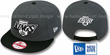 Kings 2T TEAM-LOGO SNAPBACK Grey-Black Hat by New Era