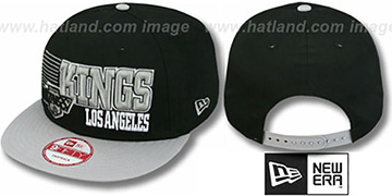 Kings '2T VINTAGE BORDERLINE SNAPBACK' Black-Grey Hat by New Era
