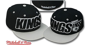 Kings '2T WORDMARK' Black-Grey Fitted Hat by Mitchell & Ness