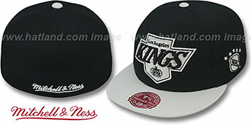 Kings '2T XL-LOGO' Black-Grey Fitted Hat by Mitchell & Ness