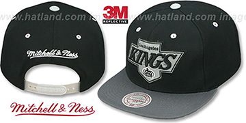 Kings '3M XL-LOGO SNAPBACK' Black-Grey Hat by Mitchell & Ness