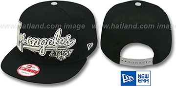 Kings 'BLOCK-SCRIPT SNAPBACK' Black Hat by New Era