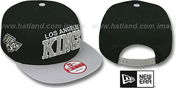 Kings CHENILLE-ARCH SNAPBACK Black-Grey Hat by New Era