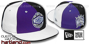 Kings CONFERENCE PINWHEEL Purple-Black-White Fitted Hat